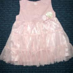 Rochita roz eleganta, marca HM, fete 12-18 luni/ 86 cm