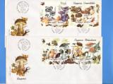 FDC ROMANIA 1994  CIUPERCI COMESTIBILE SI OTRAVITOARE  2 PLICURI, Romania de la 1950, Natura