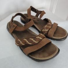 Sandale de piele, de vara, marca Timberland, femei mar 40 - Sandale dama Timberland, Culoare: Maro, Piele naturala