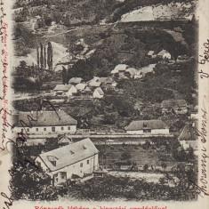Ok-1396- Romania, Maramures, Costiui, Ronaszek, c.p. circulata 1902: Panorama - Carte Postala Maramures pana la 1904, Fotografie