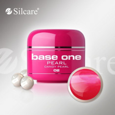 Gel uv Polonia Silcare Base one color sidefat Pearl Candy Pearl 5 ml, roz - Gel unghii, Gel colorat