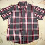 Camasa de vara gri cu rosu, marca Matalan, baieti 8-9 ani