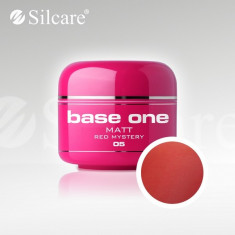 Gel uv Polonia Silcare Base one color MAT Red Mystery 5 ml, rosu - Gel unghii, Gel colorat