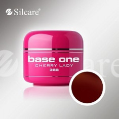 Gel uv Polonia Silcare Base one color Cherry Lady 5 ml, pentru unghii false - Gel unghii, Gel colorat