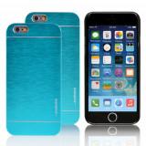 Husa MOTOMO blue bleu super calitativa  iPhone 4 + folie protectie, Albastru, Alt material, Carcasa, Apple