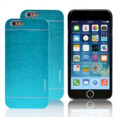 Husa MOTOMO blue bleu super calitativa  iPhone 4 + folie protectie