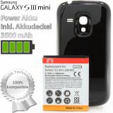 Baterie extinsa 3500 mAh capac negru Samsung Galaxy S3 Mini i8190 + folie