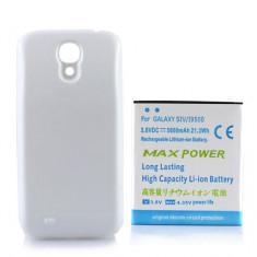 Baterie extinsa 5600 mah + capac alb pt Samsung Galaxy S4 i9500 + cablu date - Baterie externa