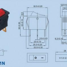 Intrerupator simplu KCD3 cu led comutator mod basculant 16 A 250V