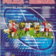 Program meci fotbal POLONIA - ROMANIA anul 2002