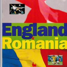 Program meci fotbal ANGLIA - ROMANIA 12.10.1994