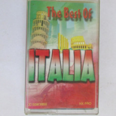 CASETA MUZICA-THE BEST OF ITALIA - Muzica Ambientala, Casete audio