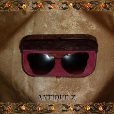 Ochelari de soare antique, de epoca, Femei, Maro, Fluture, Metal