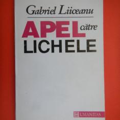 APEL CATRE LICHELE Gabriel Liiceanu - Filosofie