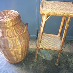 Set Cos rufe oval Rachita Handmade lucrat manual Masa masuta mobilier casa !!!