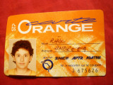 Legitimatie - Carte Orange veche - Card transport incusiv caile Ferate Franceze