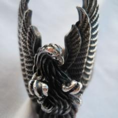 UNICAT Inel argint VULTUR Spectaculos vechi Splendid vintage Exceptional lucrat - Bijuterie veche