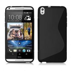 Husa HTC Desire 816 TPU S-LINE Black - Husa Telefon HTC, Negru, Gel TPU, Fara snur, Carcasa