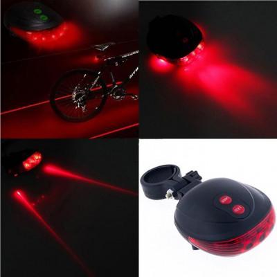 STOP SEMNALIZARE BICICLETA  5 Leduri + 2 Lasere rosii foto