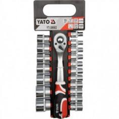 Set tubulare cu antrenor 19 buc., Yato YT-38682 - Cheie tubulara