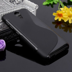 Husa HTC Desire 620 TPU S-LINE Black - Husa Telefon HTC, Negru, Gel TPU, Fara snur, Carcasa
