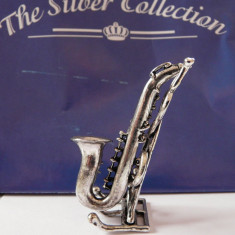 MINIATURA DIN ARGINT - SAXOFON - EDITIE SILVER COLLECTION 2002