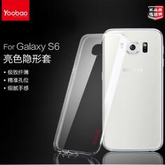 Husa Samsung Galaxy S6 G920F TPU Ultra Thin 0.3mm Transparenta + Folie by Yoobao, Transparent, Gel TPU