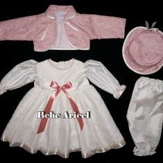 Costum de botez cu rochita si bolero RAMONA - Trusou botez