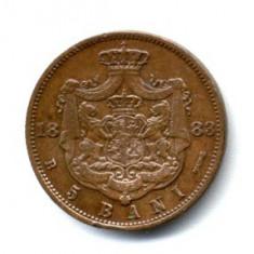 5 BANI 1883 STARE FOARTE FOARTE BUNA - Moneda Romania