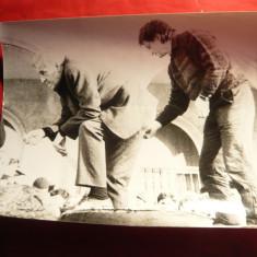 Fotografie Sergiu Nicolaescu si Ion Caramitru la Revolutie , 24 x 18 cm
