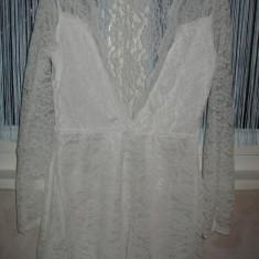 Rochita/ camasa de noapte dantela, Marime: M/L, Culoare: Alb