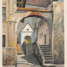 SIGHISOARA, INTRAREA IN BISERICA MANASTIREASCA - Carte Postala Transilvania 1904-1918, Necirculata, Printata