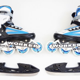 WORKER Nolan - Role vara - patine iarna - reglabile 37 - 40- montura metalica