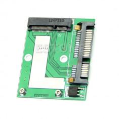 Adaptor Mini PCI-E, mSATA SSD la SATA 2.5