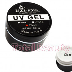 Gel UV EzFlow 15 gr Clear - Gel UV Transparent unghii false - Gel unghii