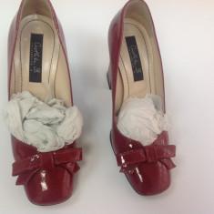 OCAZIE!!! Pantofi MUSETTE NOI!! - Pantof dama, Culoare: Rosu, Marime: 35, Piele naturala