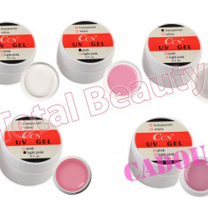 Set 4 x Geluri UV CCN 15 gr + CADOU 1 x Gel UV CCN Cover unghii false - Gel unghii