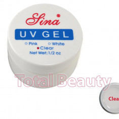 Gel Constructie Unghii UV Sina 15 ml Clear - Gel UV Transparent - Gel unghii Sina, Gel de constructie