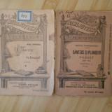 MIHAIL ZAMPHIRESCU--CANTECE SI PLANGERI 2 VOL. 1897 - Carte veche