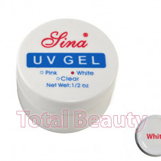 Gel Constructie Unghii UV Sina 15 ml White French - Gel UV Alb - Gel unghii