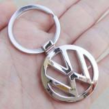 Breloc auto metal argintiu pentru VW  + cutie simpla cadou