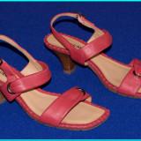 DE CALITATE _ Sandale din piele, stare impecabila, LUIGI CAPRINI _ femei   nr 38 - Sandale dama, Culoare: Rosu, Piele naturala