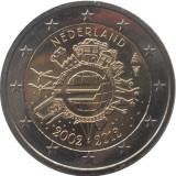 OLANDA 2 euro comemorativa 2012 TYE (10ani euro) - UNC, Europa, Cupru-Nichel