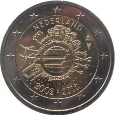 OLANDA 2 euro comemorativa 2012 TYE (10ani euro) - UNC foto