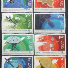 ZAIR 1985 - COSMOS  8 VALORI, NEOBLITERATE - ZA 009