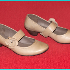 DE CALITATE _ Pantofi din piele, comozi, usori, JANA FASHION _ femei | nr 39, 5 - Pantof dama, Culoare: Bej, Piele naturala