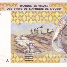 Bancnota Africa de Vest 1.000 Franci 1991 - P111Aa (Coasta de Fildes) XF++