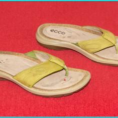 DE FIRMA _ Saboti / slapi de calitate, piele, impecabili, ECCO _ femei | nr. 39 - Sabot dama Ecco, Culoare: Din imagine