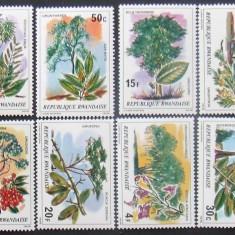 RWANDA 1979 - PLANTE MEDICINALE  8 VALORI, NEOBLITERATE - RW 052