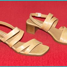 NOI, DE CALITATE _ Sandale din piele, frumoase, comode, GO SOFT _ femei | nr. 39 - Sandale dama, Culoare: Bej, Piele naturala